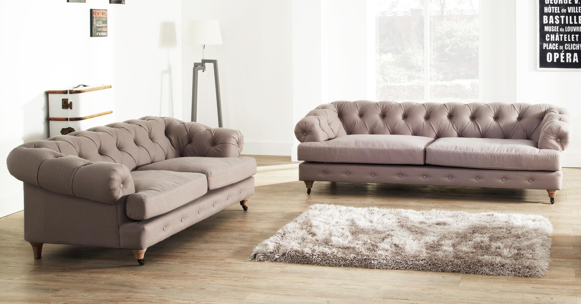 Home Sofa Chesterfield Sofa Linen